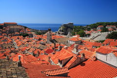 The roofs of Dubrovnik. Seen from the fortifications wall royalty free stock photos