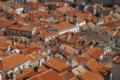 Roofs of Dubrovnik. Dubrovnik old town view, Croatia Stock Images