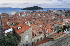 Roofs of Dubrovnik. Roofs and ruins of Dubrovnik Stock Photos