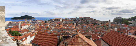 Roofs of Dubrovnik. Roofs and ruins of Dubrovnik Stock Photography