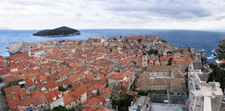 Roofs of Dubrovnik. Roofs and ruins of Dubrovnik Royalty Free Stock Photo