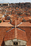 The roofs of Dubrovnik. View of Dubrovnik old town Stock Images