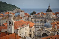 Roofs of Dubrovnik. A view of the roofs of Dubrovnik, taken from the old city walls Royalty Free Stock Photo