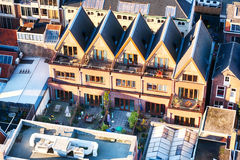 Roofs of Dutch houses in Delft Stock Images