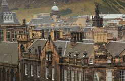 Roofs in Edinburgh. CItyscape of roofs of historical houses in Edinburgh, Scotland, UK Stock Photography