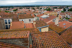 Roofs of Elne town Stock Photography