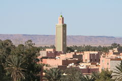 Roofs of Erfoud in Morocco. Roofs of city Erfoud in Morocco not far away from desert and dunes of Erg Chebbi Stock Photo
