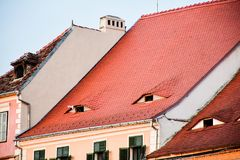Roofs eyes royalty free stock photography
