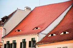 Roofs eyes stock photography