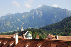Roofs in Füssen Royalty Free Stock Image