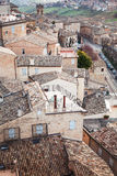 Roofs of Fermo, Italy. Old stone living houses Royalty Free Stock Photos
