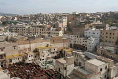 Roofs of Fez in Morocco Royalty Free Stock Photos