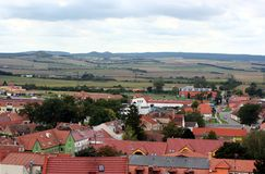 Roofs and fields of Mikulov Royalty Free Stock Image