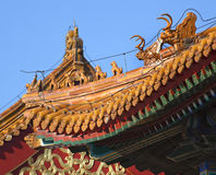 Roofs Figurines Forbidden City Beijing Royalty Free Stock Images