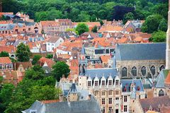 Roofs of Flemish Houses in Brugge Stock Image