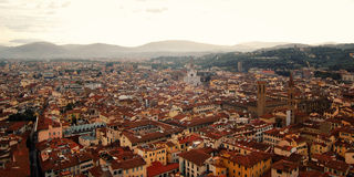 Roofs of Florence from Campanile of Florence Cathedral. East side. Stock Photo