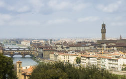 Roofs of Florence city, Italy stock photography