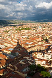 Roofs of Florence with the Dome's shadow Royalty Free Stock Image