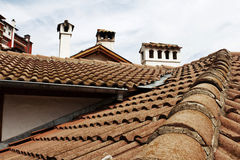 Roofs, flues.Veliko Tyrnovo, Bulgar Royalty Free Stock Photography