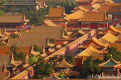 Roofs of the forbidden city royalty free stock images