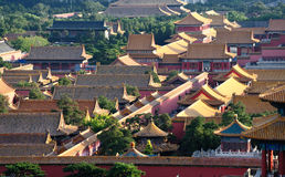 Roofs of the forbidden city Stock Photos