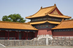 The roofs of the Forbidden City Stock Photo
