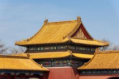 Roofs in the Forbidden City in Beijing, China Royalty Free Stock Image