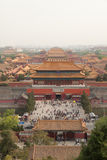 Roofs of the Forbidden city in Beijing. China Royalty Free Stock Photos