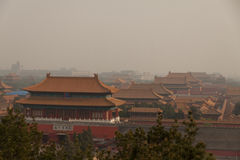 Roofs of the Forbidden city in Beijing. China Royalty Free Stock Photo