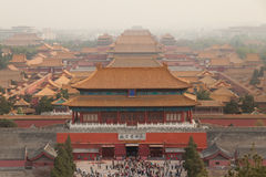 Roofs of the Forbidden city in Beijing. China Royalty Free Stock Photography