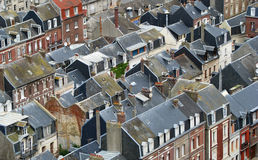 Roofs of French coastal city Royalty Free Stock Photography
