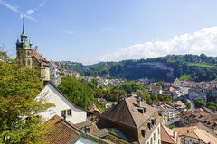 Roofs of Fribourg Stock Image