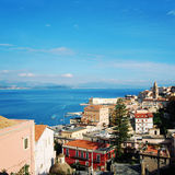 Roofs of Gaeta. View from the hill. Blue sea. Royalty Free Stock Photo