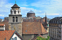 Roofs of Geneva, Switzerland Stock Photos