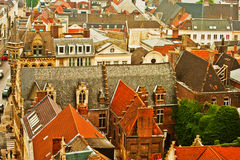 Roofs of Gent Royalty Free Stock Images