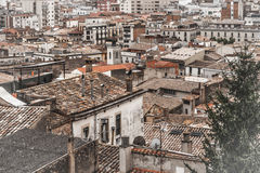 Roofs in the Girona Royalty Free Stock Images
