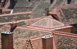 Roofs of Graz, Austria Royalty Free Stock Images