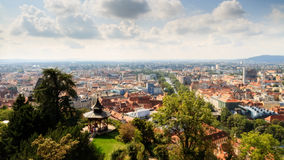 Roofs of Graz Stock Image