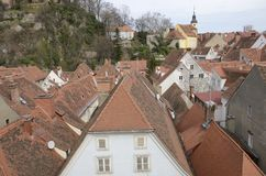 Roofs of Graz Stock Photography