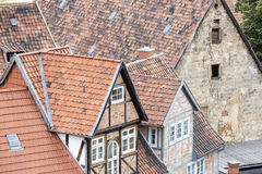 Roofs of half-timbered houses Stock Photography