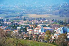Roofs and hills in Conegliano, Veneto, Italy Royalty Free Stock Photography