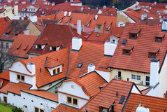 Roofs of historic city. Of Prague, world heritage UNESCO Royalty Free Stock Photos