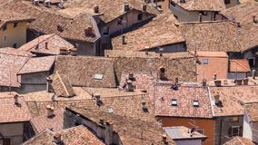 Roofs, Homes, Old Town, Italy, Red Stock Photos