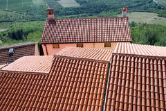 Roofs of houses royalty free stock photography