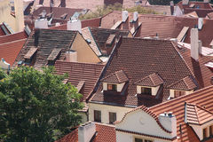 Roofs of houses. Royalty Free Stock Photos