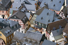 Roofs of houses in Beilstein, Germany. Royalty Free Stock Image