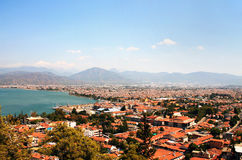 The roofs of houses in Fethiye Royalty Free Stock Photography
