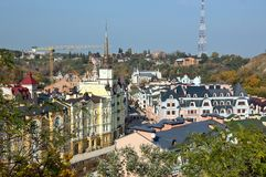Roofs of houses in Kiev Royalty Free Stock Photos