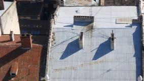 Roofs of houses Lviv Ukraine.  stock video