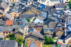 Roofs and houses in old village Stock Photo